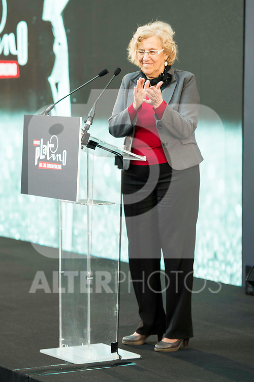 "Madrid Mayor Manuela Carmena attends to the presentation of the ""Premios Platino"" at Palacio de Cristal in Madrid. April 07, 2017. (ALTERPHOTOS/Borja B.Hojas)"