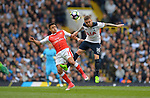 Alexis Sanchez of Arsenal is challenged by Kieran Trippier of Tottenham Hotspur during the English Premier League match at the White Hart Lane Stadium, London. Picture date: April 30th, 2017.Pic credit should read: Robin Parker/Sportimage