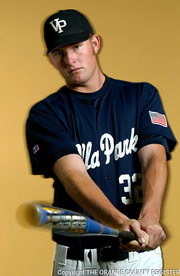 Angels baseball player Mark Trumbo poses in studio as the High School Athlete of the Year - Portfolio only.
