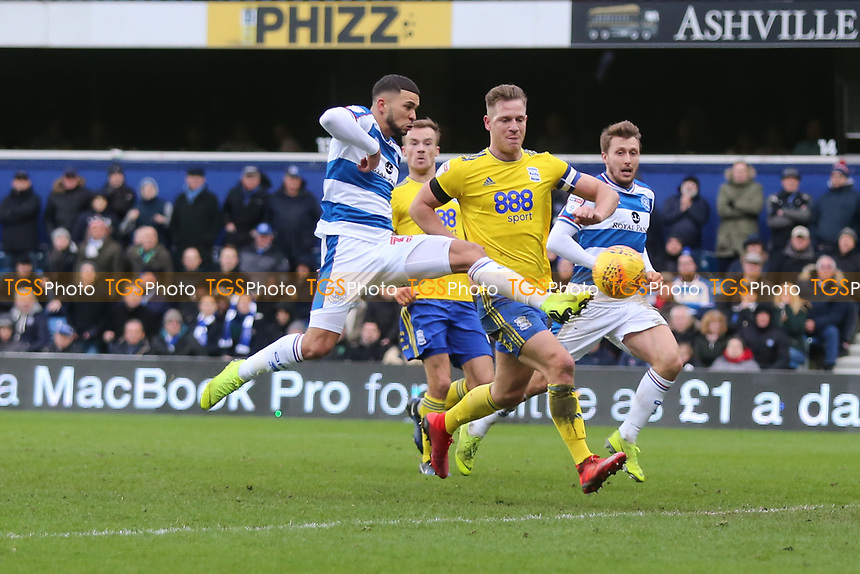 Nahki Wells of QPR has an effort saved by Lee Camp of Birmingham during Queens Park Rangers vs Birmingham City, Sky Bet EFL Championship Football at Loftus Road Stadium on 9th February 2019