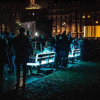 Lumiere London: festival delle installazioni luminose nei luoghi pi&ugrave; suggestivi di Londra. Grosvenoor Square a Mayfair<br /> <br /> Lumiere London: the lights festival across the iconic locations of London. Grosvenor Square in Mayfair