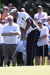 Thongchai Jaidee takes his putt on the 7th green during Round 3 of the BMW PGA Championship at  Wentworth, Surrey, England, 22nd May 2010...Photo Golffile/Eoin Clarke.(Photo credit should read Eoin Clarke www.golffile.ie)....This Picture has been sent you under the condtions enclosed by:.Newsfile Ltd..The Studio,.Millmount Abbey,.Drogheda,.Co Meath..Ireland..Tel: +353(0)41-9871240.Fax: +353(0)41-9871260.GSM: +353(0)86-2500958.email: pictures@newsfile.ie.www.newsfile.ie.