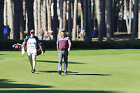 Padraig Harrington (IRL) and Ronan Flood on the 3rd hole during Friday's Round 2 of the 2018 Turkish Airlines Open hosted by Regnum Carya Golf &amp; Spa Resort, Antalya, Turkey. 2nd November 2018.<br /> Picture: Eoin Clarke | Golffile<br /> <br /> <br /> All photos usage must carry mandatory copyright credit (&copy; Golffile | Eoin Clarke)