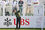 Liang Wenchong of China tees off the first hole during the 58th UBS Hong Kong Golf Open as part of the European Tour on 10 December 2016, at the Hong Kong Golf Club, Fanling, Hong Kong, China. Photo by Marcio Rodrigo Machado / Power Sport Images