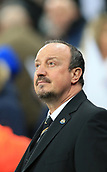 9th December 2017, St James Park, Newcastle upon Tyne, England; EPL Premier League football, Newcastle United versus Leicester City; Rafa Benítez Manager of Newcastle United looking up at the stands