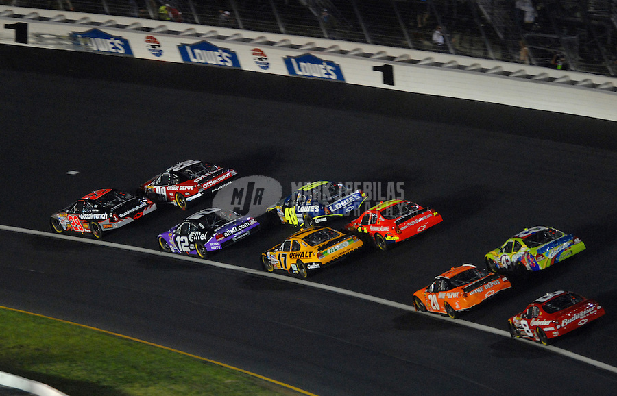 May 20, 2006; Charlotte, NC, USA; Nascar Nextel Cup driver Kevin Harvick (29) leads the field during the Nextel All Star Challenge at Lowes Motor Speedway. Mandatory Credit: Mark J. Rebilas.