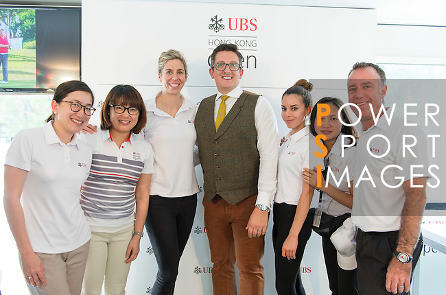 UBS staff at the end of the Am-Am tournament of the 58th UBS Hong Kong Golf Open as part of the European Tour on 13 December 2016, at the Hong Kong Golf Club, Fanling, Hong Kong, China. Photo by Marcio Rodrigo Machado / Power Sport Images