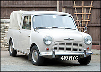 BNPS.co.uk (01202) 558833<br /> Picture: LauraJones/BNPS<br /> <br /> A classic Mini pickup truck is being sold for only the second time in its life with a pre-sale estimate of &pound;13,000.<br /> <br /> The 1961 open back vehicle has been owned by the same family since its was bought new by farmer Minnie Gould who used it to transport calves to market. <br /> <br /> It was given a new lease of life 30 years later by her son Fred who had it recommissioned and resprayed.