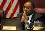 Nevada Assemblyman Jason Frierson, D-Las Vegas, works in committee at the Legislative Building, in Carson City, Nev. on Wednesday, Feb. 20, 2013. .Photo by Cathleen Allison