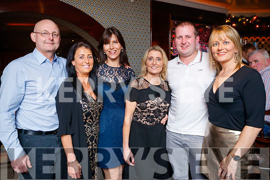 Sarah Quirke, Alderwood Road, Tralee, who celebrated her 50th birthday at Benners Hotel, Tralee on Saturday night last, pictured l-r: Richard Hudson, Mandy Hudson, Susie Hudson, Sarah Quirke, John Hudson and Claire Molloy,