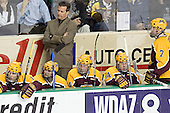 Danny Irmen, Evan Kaufmann, Don Lucia, Mike Howe, Justin Bostrom, Gino Guyer - The University of Minnesota Golden Gophers defeated the University of North Dakota Fighting Sioux 4-3 on Friday, December 9, 2005, at Ralph Engelstad Arena in Grand Forks, North Dakota.