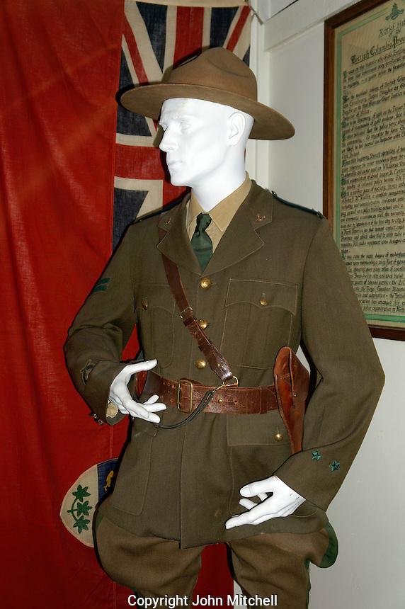 Police constable manikin, Vancouver Police Museum, Vancouver, BC, Canada