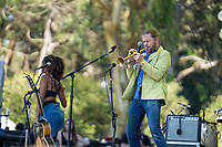 SAN FRANCISCO, CALIFORNIA - AUGUST 09: The California Honeydrops - Lech Wierzynski performs during the 2019 Outside Lands music festival at Golden Gate Park on August 09, 2019 in San Francisco, California.    <br /> CAP/MPI/ISAB<br /> ©ISAB/MPI/Capital Pictures