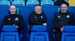 Alan Knill Assistant manager of Sheffield Utd, Chris Wilder manager of Sheffield Utd and Paul Mitchell during the Championship match at the Hillsborough Stadium, Sheffield. Picture date 24th September 2017. Picture credit should read: Simon Bellis/Sportimage