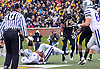 Nov 13, 2010; Columbia, MO, USA; Kansas State Wildcats running back Daniel Thomas (8) goes in for a touchdown in the first half of the game against the Missouri Tigers at Memorial Stadium. Mandatory Credit: Denny Medley-US PRESSWIRE