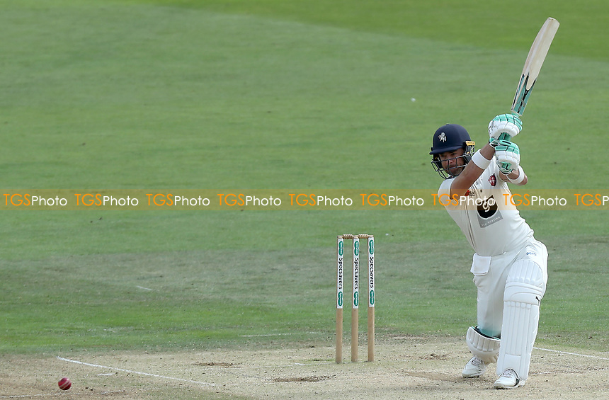 Heino Kuhn of Kent hits four runs during Kent CCC vs Essex CCC, Specsavers County Championship Division 1 Cricket at the St Lawrence Ground on 20th August 2019