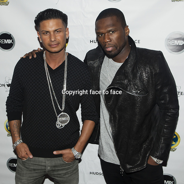DJ Pauly D, Curtis '50 Cent' Jackson - NEW YORK, NY - MAY 23: DJ Pauly D and Curtis '50 Cent' Jackson attend Curtis_'50 Cent' Jackson and DJ_Pauly D Summer Kick Off Event at Hudson Terrace on May 23, 2013 in New York City...Credit: MediaPunch/face to face..- Germany, Austria, Switzerland, Eastern Europe, Australia, UK, USA, Taiwan, Singapore, China, Malaysia, Thailand, Sweden, Estonia, Latvia and Lithuania rights only -