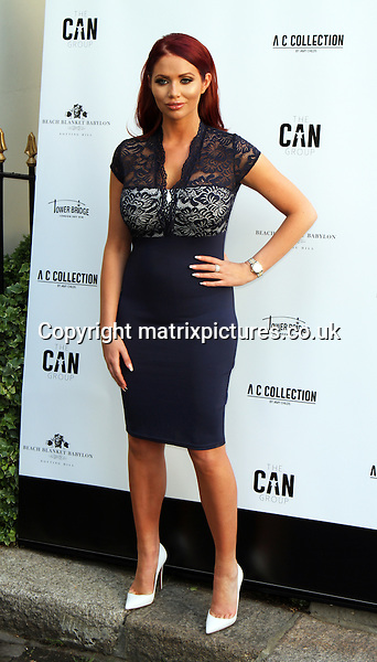 NON EXCLUSIVE PICTURE: MATRIXPICTURES.CO.UK<br /> PLEASE CREDIT ALL USES<br /> <br /> WORLD RIGHTS<br /> <br /> Former TOWIE reality TV star Amy Childs attending the Amy Childs Summer fashion launch at West London's Beach Blanket Babylon.<br /> <br /> JUNE 6th 2016<br /> <br /> REF: MES 161725