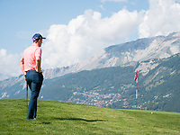 Grant Forrest (SCO) waiting on the 7th hole during third round at the Omega European Masters, Golf Club Crans-sur-Sierre, Crans-Montana, Valais, Switzerland. 31/08/19.<br /> Picture Stefano DiMaria / Golffile.ie<br /> <br /> All photo usage must carry mandatory copyright credit (© Golffile | Stefano DiMaria)