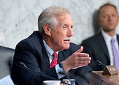 United States Senator Angus King (Independent of Maine) questions witnesses before the US Senate Select Committee on Intelligence on the Russian intervention in the 2016 Presidential election on Capitol Hill in Washington, DC on Wednesday, June 28, 2017.<br /> Credit: Ron Sachs / CNP