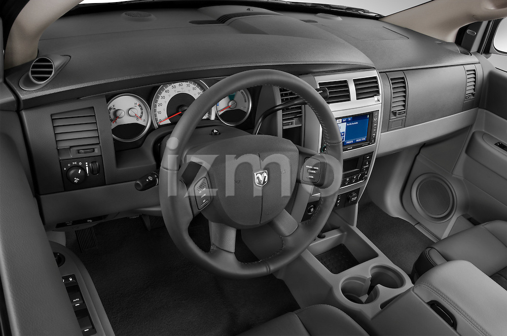 High angle dashboard view of a 2009 Dodge Durango Hybrid