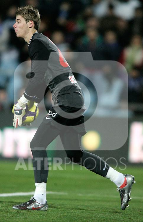 Atletico de Madrid's David De Gea during La Liga match. January 24, 2010. (ALTERPHOTOS/Alvaro Hernandez).