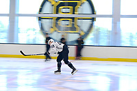 June 26, 2018: Boston Bruins forward Joona Koppanen (45) does a times speed drill during the Boston Bruins development camp held at Warrior Ice Arena in Brighton Mass. Eric Canha/CSM