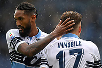 Ciro Immobile of Lazio celebrates with Wallace after scoring a goal during the Serie A 2018/2019 football match between SS Lazio and Spal at stadio Olimpico, Roma, November 04, 2018 <br />  Foto Andrea Staccioli / Insidefoto