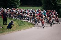 peloton led by Team BMC rolling by<br /> <br /> Stage 5: Lorient &gt; Quimper (203km)<br /> <br /> 105th Tour de France 2018<br /> &copy;kramon