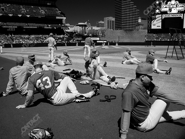 On the opening day of the 2002 baseball season, 4/1/02, the Baltimore Orioles defeated the New York Yankees, 10 - 3 (Orioles), at Camden Yards stadium in Baltimore, Maryland.