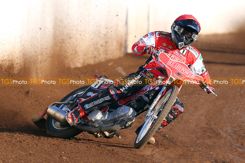 Kenneth Bjerre rides for Peterborough - Lakeside Hammers vs Peterborough Panthers - Sky Sports Elite League Speedway at the East of England Showground - 03/06/10 - MANDATORY CREDIT: Gavin Ellis/TGSPHOTO - Self billing applies where appropriate - Tel: 0845 094 6026