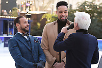 Jason Gardiner, Ashley Banjo &amp; Philip Schofield at the &quot;Dancing on Ice&quot; launch photocall at the Natural History Museum, London, UK. <br /> 19 December  2017<br /> Picture: Steve Vas/Featureflash/SilverHub 0208 004 5359 sales@silverhubmedia.com