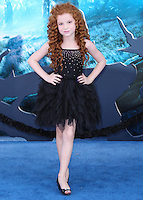HOLLYWOOD, LOS ANGELES, CA, USA - MAY 28: Francesca Capaldi at the World Premiere Of Disney's 'Maleficent' held at the El Capitan Theatre on May 28, 2014 in Hollywood, Los Angeles, California, United States. (Photo by Xavier Collin/Celebrity Monitor)