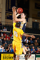SAN ANTONIO , TX - MARCH 4, 2010: Heartland Conference Men's Basketball Tournament Quarter-Finals featuring the St. Edward's University Hilltoppers vs. the St. Mary's University Rattlers at the Bill Greehey Arena. (Photo by Jeff Huehn)