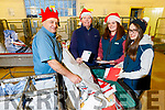 Dedicated staff of Edward St Post Office sorting department sorting out Santa's mail on Monday.<br /> Michael O'Callaghan, Vincent O'Sullivan, Kathlyn and Christina Roche.