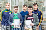 St Brendans College students David Carroll, Ciaran Sheehan, Donal O'Sullivan, David Naughton and Eoghan Carroll trilled  to collect their Leaving Cert results in Killarney on Wednesday