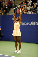 Sloane Stephens of United States celebrates winning during day 11 of the Us Open 2017 at USTA Billie Jean King National Tennis Center on September 7, 2017 in New York City. (Photo by Marek Janikowski/Icon Sport)