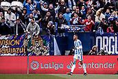 10th February 2019,  Estadio Municipal de Butarque, Leganes, Spain; La Liga football, Leganes versus Real Betis; Youssef En-Nesyri (CD Leganes)  celebrates his goal which made it 2-0