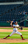 HARTFORD, CT-062520JS03—Terryville Plack Sox's Jake Kawiecki (35) delivers a pitch during  their Connecticut Twilight League baseball game against Great Falls Gators Thursday at Dunkin Donuts Park in Hartford. <br /> Jim Shannon Republican-American