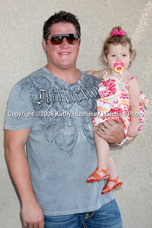 Derk Cheetwood & Daughter  arriving at the General Hospital Fan Club Luncheon at the Airtel Plaza Hotel in Van Nuys, CA   on July 18, 2009 .©2008 Kathy Hutchins / Hutchins Photo..