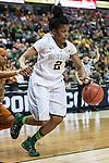 guard Niya Johnson (2) in action during Big 12 women's basketball championship final, Sunday, March 08, 2015 in Dallas, Tex. (Dan Wozniak/TFV Media via AP Images)