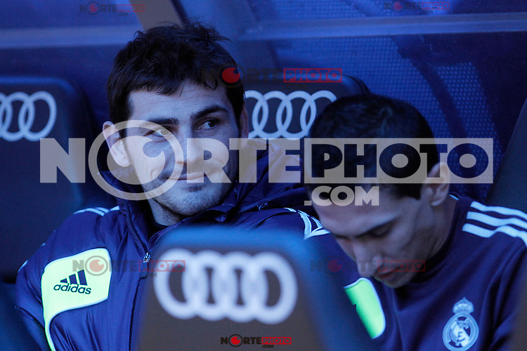 Real Madrid's Iker Casillas in the bench during La Liga match.January 06,2013. (ALTERPHOTOS/Acero) /NortePhoto