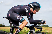 Picture by Alex Whitehead/SWpix.com - 07/09/2017 - Cycling - OVO Energy Tour of Britain - Stage 5, The Tendring Stage Individual Time Trial - Geraint Thomas of Team Sky in action.