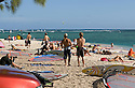 Windsurfing and kitesurfing at Le Morne in Mauritius.