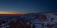 Sunrixe over Bryce Canyon National Park in Utah after a  winter snow.