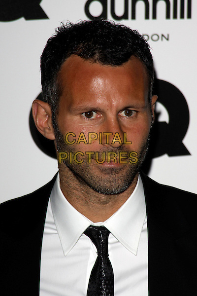 RYAN GIGGS.The GQ Men of The Year Awards held at The Royal Opera House, Covent Garden, London, England, UK..September 7th 2010.headshot portrait black stubble beard facial hair white.CAP/AH.©Adam Houghton/Capital Pictures.
