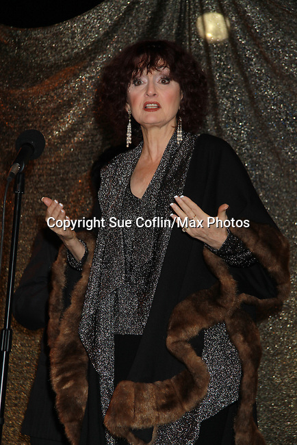 One Life To Live Robin Strasser at ICNY (Imperial Court of New York): Daytime Meets Nighttime Cabaret benefitting LifeBeat: Music Fights HIV and Jan Hus Neighborhood Church, two organizations giving back to the community at November 4, 2011 at the Jan Hus Playhouse Theatre, New York City, New York. (Photo by Sue Coflin/Max Photos)