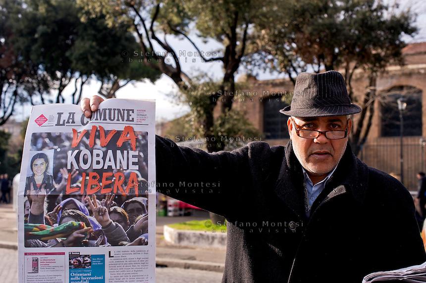 Roma, 14 Febbraio  2015<br /> Manifestazione di solidariet&agrave; con la Grecia di Alexis Tsipras e contro le politiche di austerity imposte dalla troika.<br /> Rome, February 14, 2015<br /> Demonstration of solidarity with Greece  of Alexis Tsipras and against austerity policies imposed by the Troika.