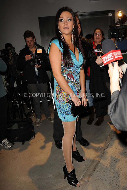 WWW.ACEPIXS.COM . . . . . ....February 16 2010, New York City....TV personality Jenni 'J-WOWW' Farley at the Bebe - Kardashian Fall 2010 Fashion Show during Mercedes-Benz Fashion Week at Style360 on February 16, 2010 in New York City. ....Please byline: KRISTIN CALLAHAN - ACEPIXS.COM.. . . . . . ..Ace Pictures, Inc:  ..(212) 243-8787 or (646) 679 0430..e-mail: picturedesk@acepixs.com..web: http://www.acepixs.com