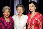 From left: Chaja Verveer, Charlotte Berkowitz and Ursula Muenzel at the Holocaust Museum Houston's 2010 Lyndon Baines Johnson Moral Courage Award Dinner at the Hilton Americas Houston Monday May 03,2010.  (Dave Rossman Photo)